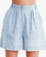byTimo Embroidered Linen Shorts 2
