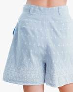 byTimo Embroidered Linen Shorts 3