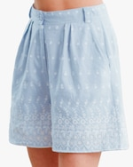 byTimo Embroidered Linen Shorts 4