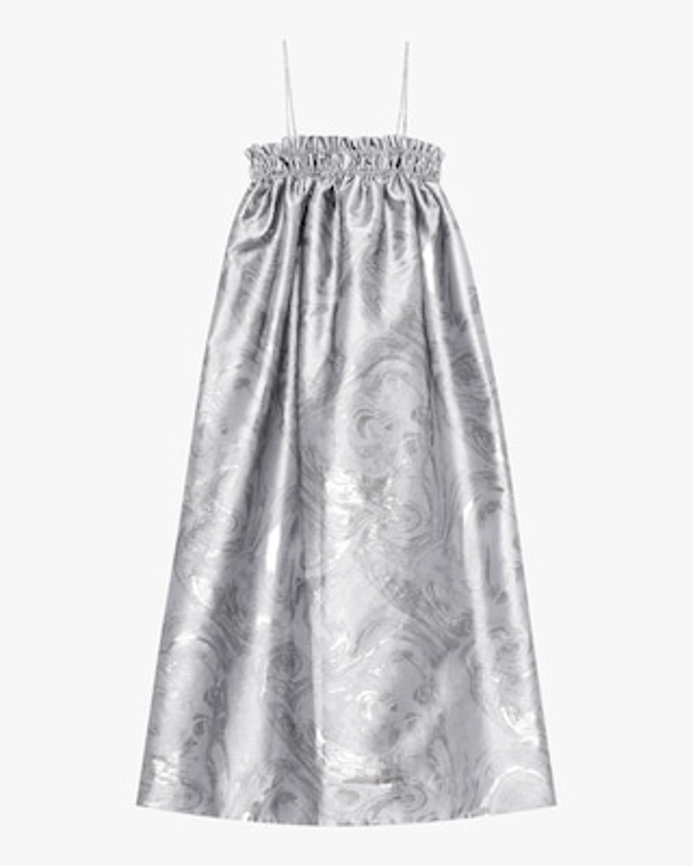 Ganni Shiny Jacquard Midi Dress 2