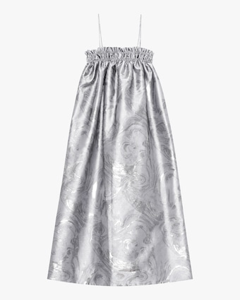 Ganni Shiny Jacquard Midi Dress 2