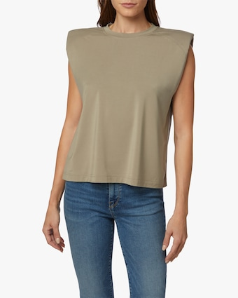 Hudson Sleeveless Shoulder-Pad Tee 1