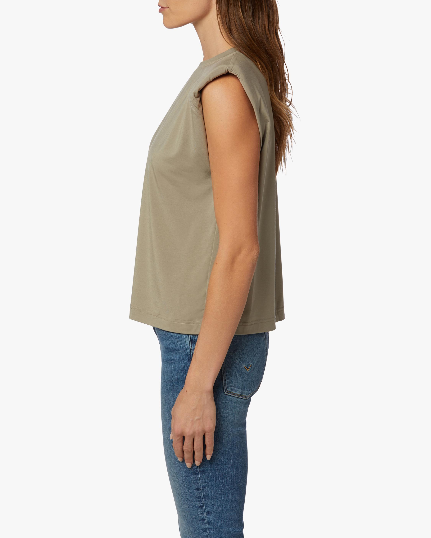 Hudson Sleeveless Shoulder-Pad Tee 3
