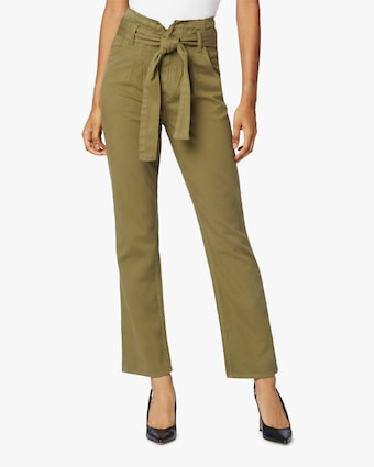 Hudson Remi High-Rise Straight Paperbag Pants 1
