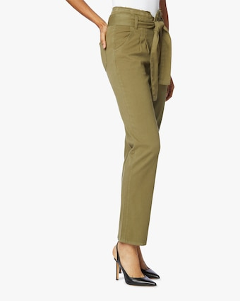 Hudson Remi High-Rise Straight Paperbag Pants 2