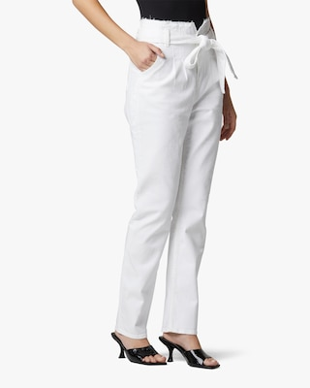 Hudson Remi High-Rise Straight Paperbag Pants 2
