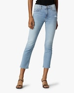 Hudson Nico Mid-Rise Crop Straight Jeans 0