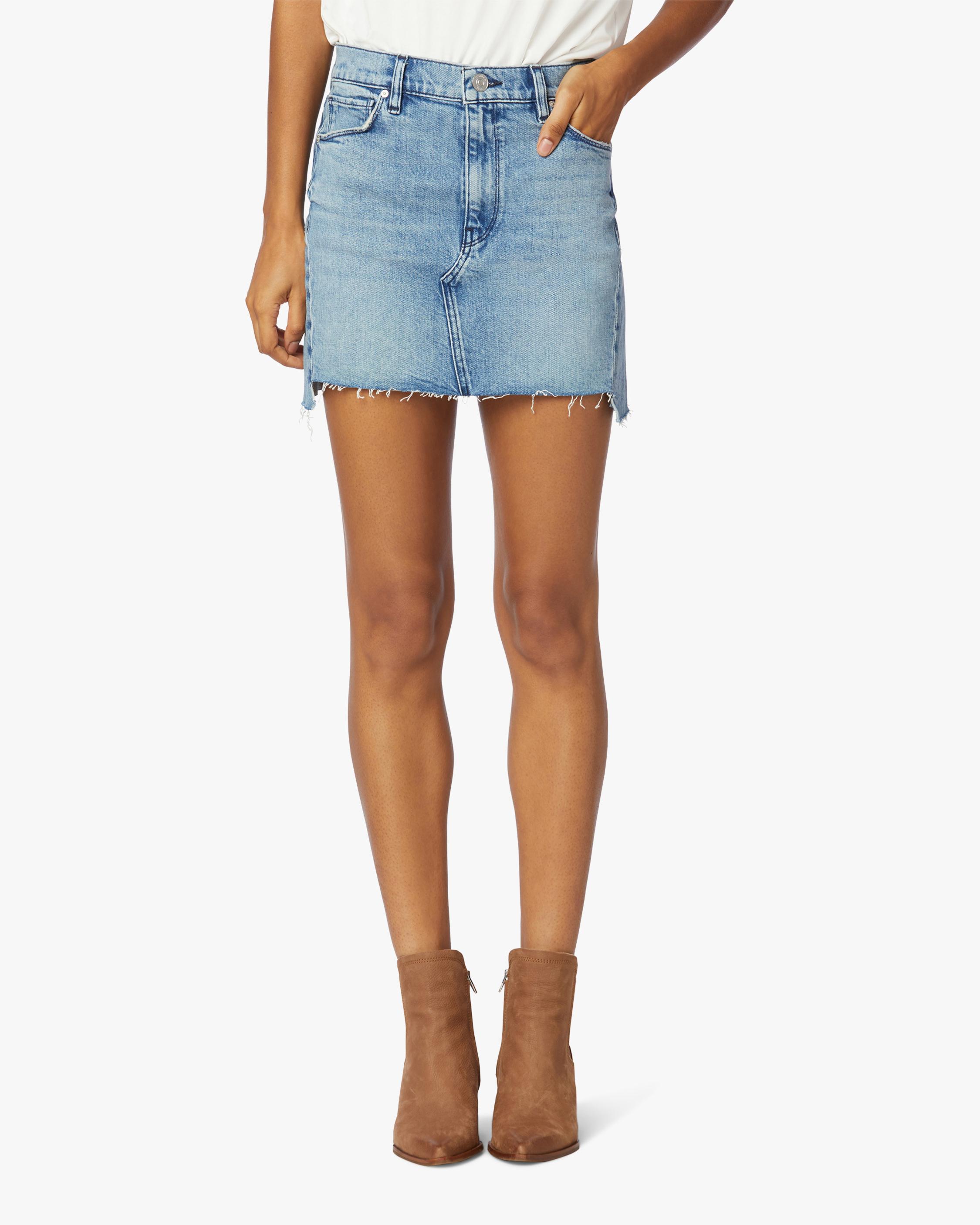 Hudson The Viper Denim Skirt 0