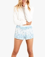 Stripe & Stare Periwinkle Bed Shorts 0