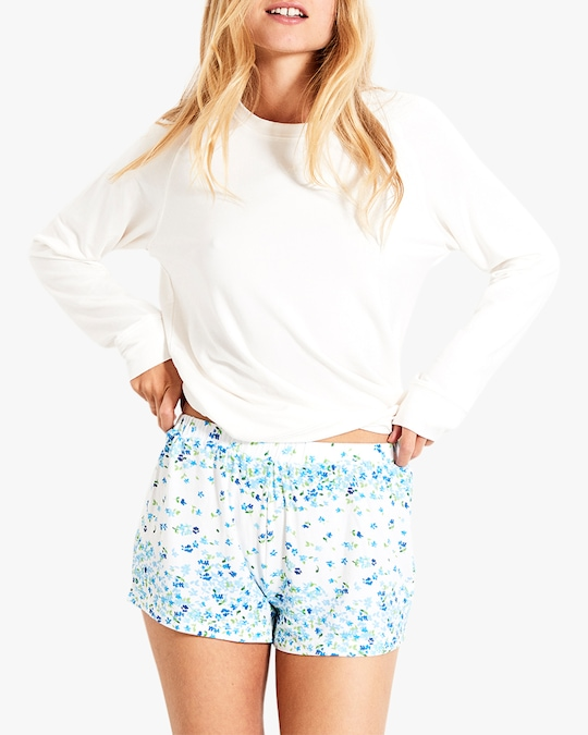 Stripe & Stare Periwinkle Bed Shorts 1