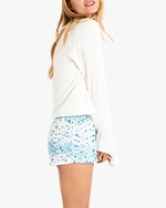Stripe & Stare Periwinkle Bed Shorts 3