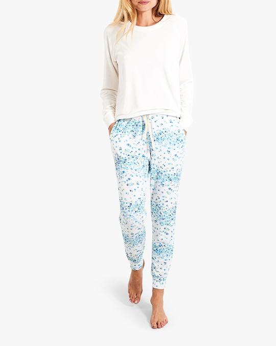 Stripe & Stare Periwinkle Lounge Pants 1