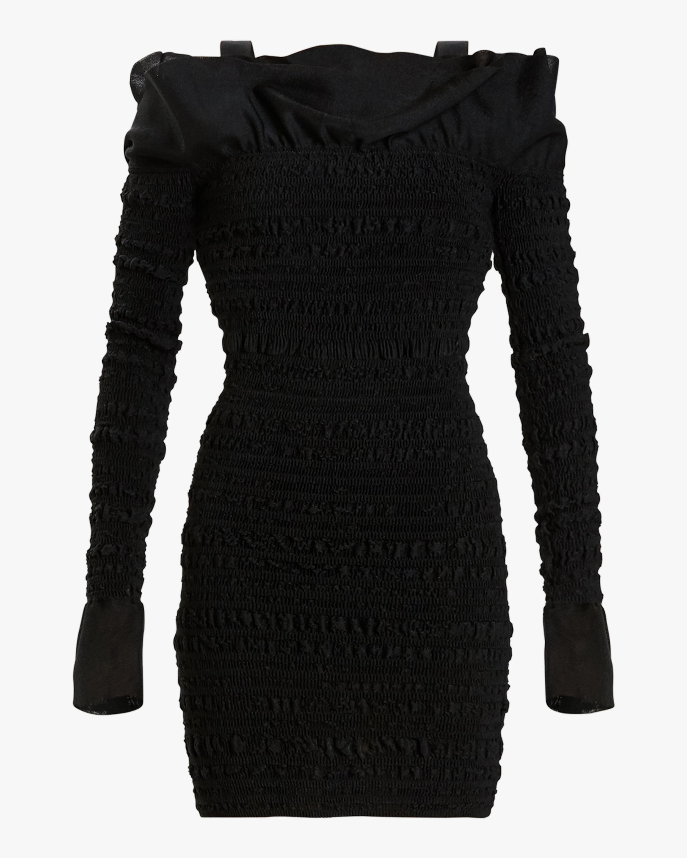Herve Leger Puckered-Sitch Ruffled Mini Dress 0
