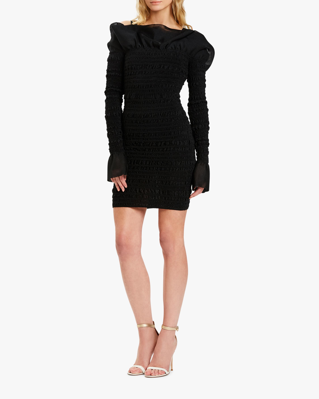 Herve Leger Puckered-Sitch Ruffled Mini Dress 2