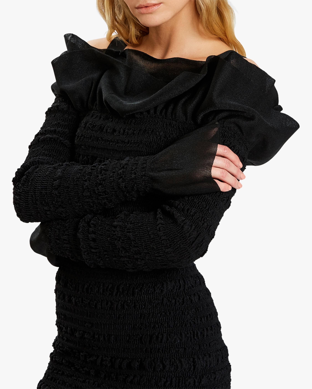 Herve Leger Puckered-Sitch Ruffled Mini Dress 5