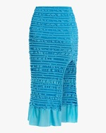 Herve Leger Puckered-Stitch Pencil Skirt 0