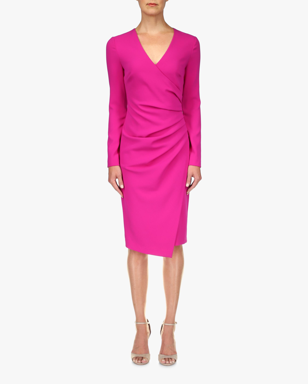 Badgley Mischka Coessa Ruched V-Neck Dress 1