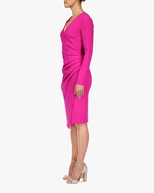 Badgley Mischka Coessa Ruched V-Neck Dress 2
