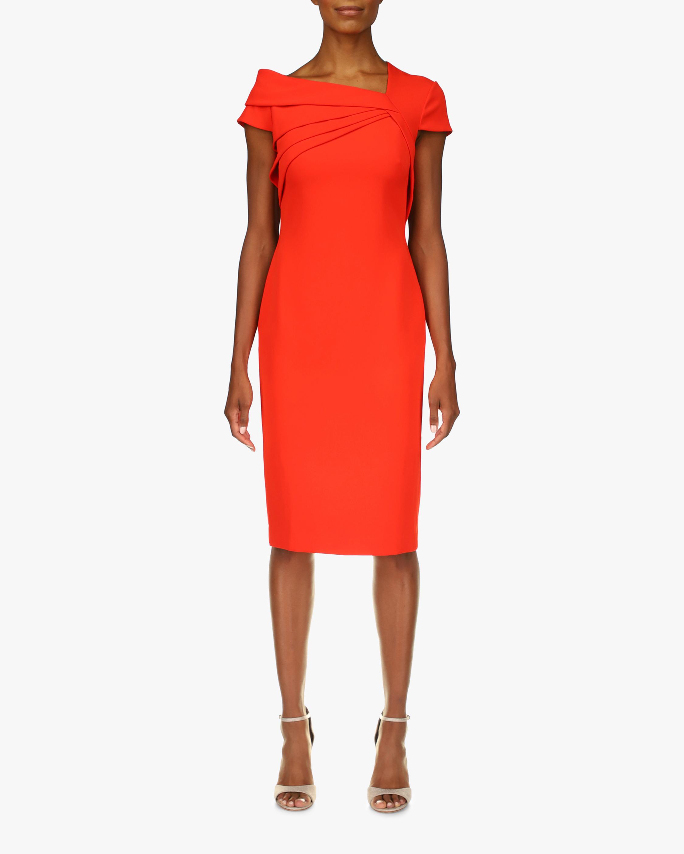 Badgley Mischka Odessa Asymmetrical Sheath Dress 1