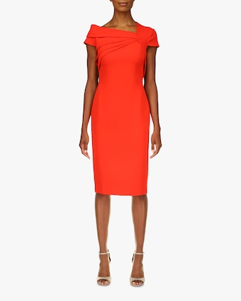 Badgley Mischka Odessa Asymmetrical Sheath Dress 1