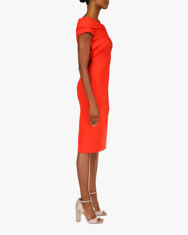 Badgley Mischka Odessa Asymmetrical Sheath Dress 2