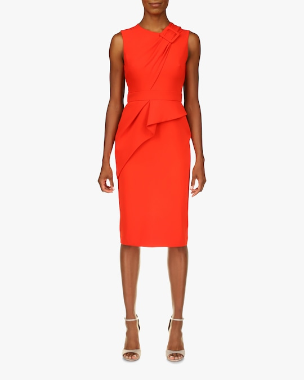 Badgley Mischka Odessa Buckle Sleeveless Dress 0