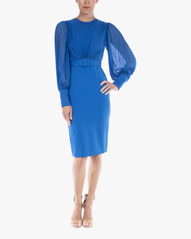 Badgley Mischka Odessa Belted-Waist Dress 0