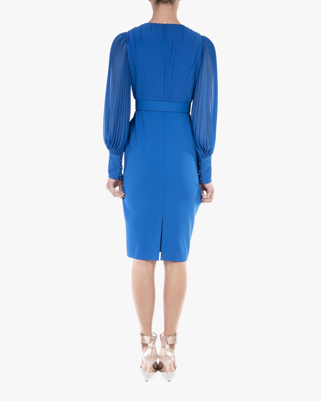 Badgley Mischka Odessa Belted-Waist Dress 3