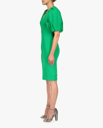 Badgley Mischka Puff-Sleeve Dress 2