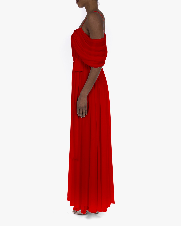 Badgley Mischka Georgette Draped Gown 2