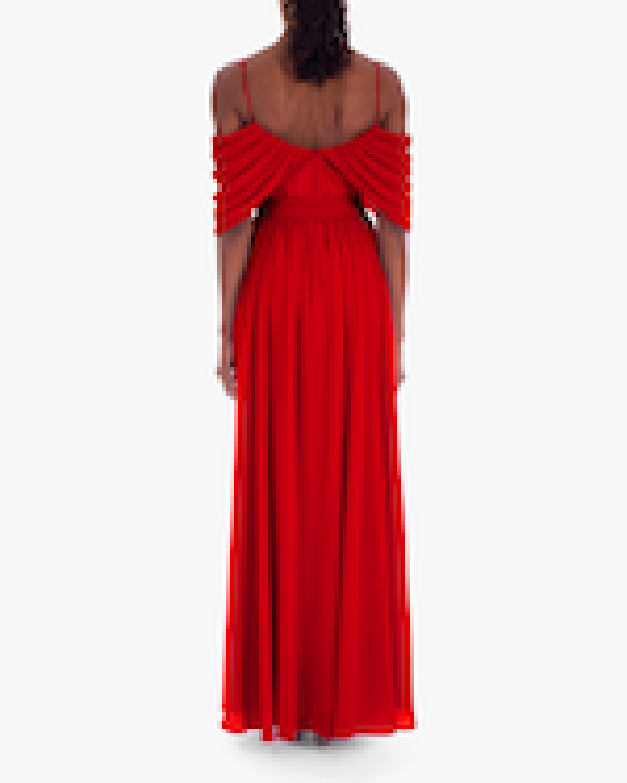 Badgley Mischka Georgette Draped Gown 3