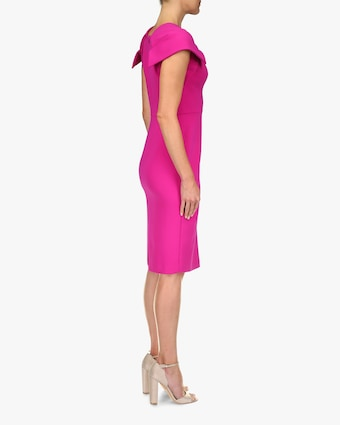 Badgley Mischka Odessa V-Neck Cocktail Dress 2