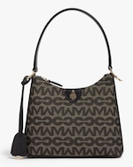 Mark Cross Murphy Zip Mini Hobo MC Jacquard & Leather Bag 0