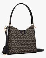 Mark Cross Murphy Zip Mini Hobo MC Jacquard & Leather Bag 1