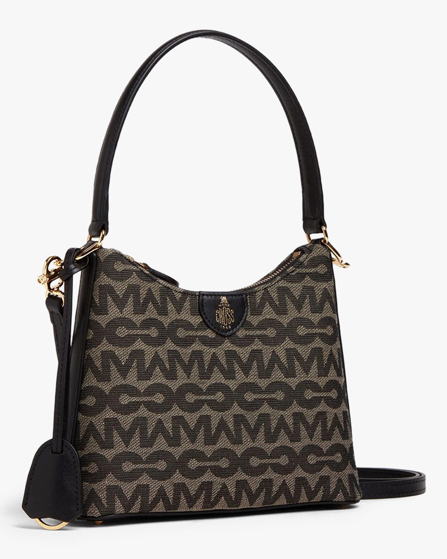 Mark Cross Murphy Zip Mini Hobo MC Jacquard & Leather Bag 2