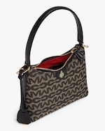 Mark Cross Murphy Zip Mini Hobo MC Jacquard & Leather Bag 3