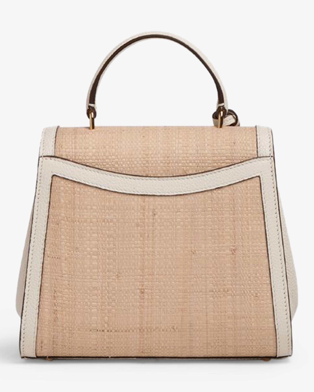 Mark Cross Madeline Mini Lady Raffia & Leather Top Handle Bag 2