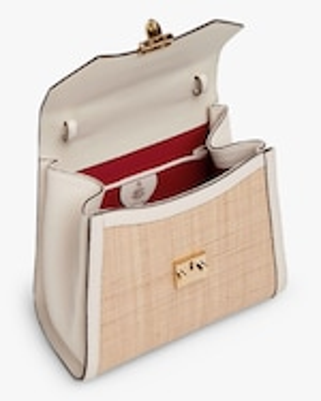 Mark Cross Madeline Mini Lady Raffia & Leather Top Handle Bag 3