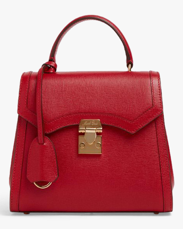 Mark Cross Madeline Mini Lady Leather Top Handle Bag 0