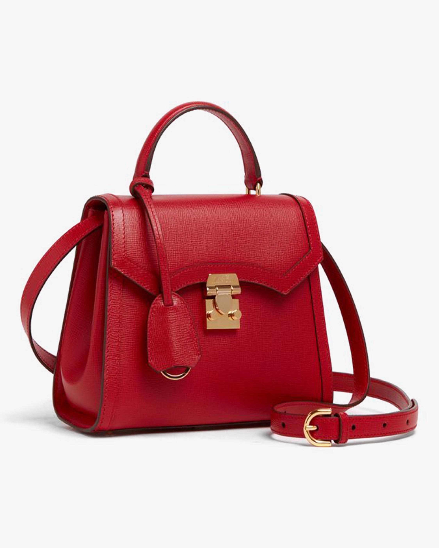 Mark Cross Madeline Mini Lady Leather Top Handle Bag 1
