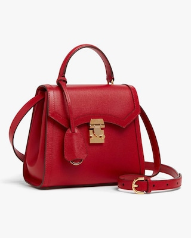 Mark Cross Madeline Mini Lady Leather Top Handle Bag 2