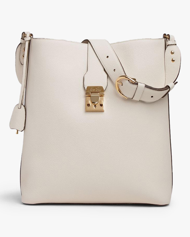 Mark Cross Murphy Hobo Leather Bucket Bag 0