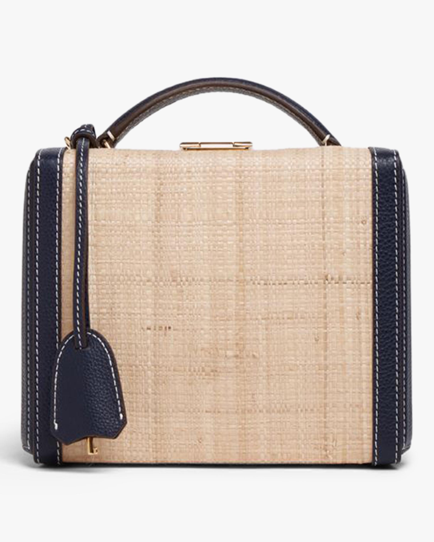 Mark Cross Grace Small Raffia & Leather Box Bag 0