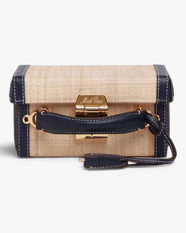 Mark Cross Grace Small Raffia & Leather Box Bag 3