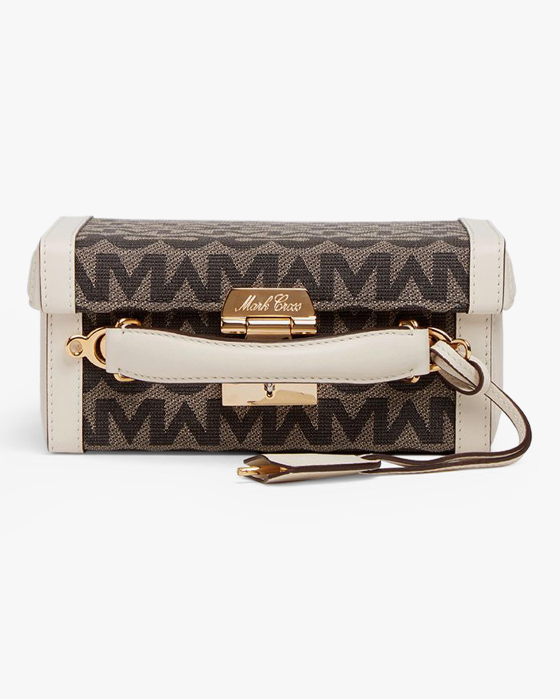 Mark Cross Grace Small MC Jacquard & Leather Box Bag 3