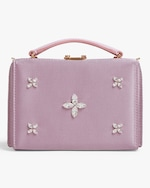 Mark Cross Grace Mini Satin Box Bag 0