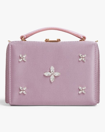 Mark Cross Grace Mini Satin Box Bag 1