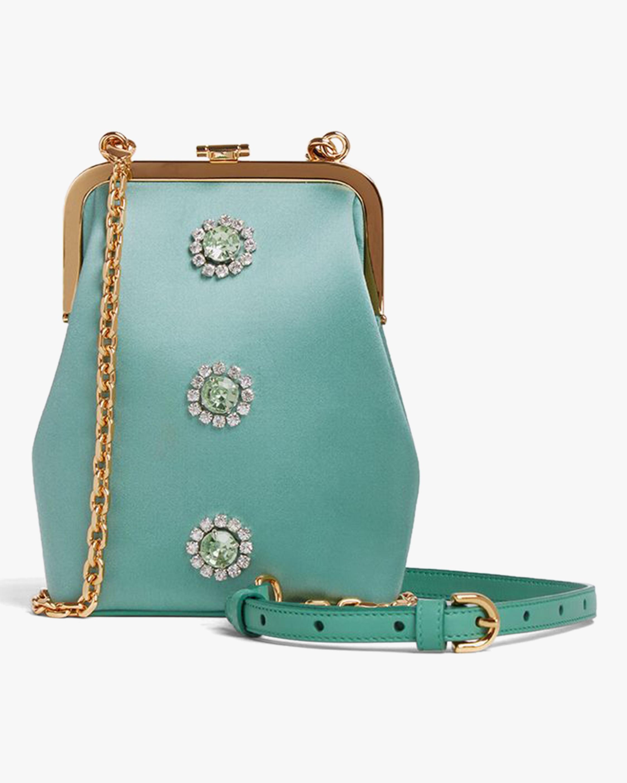 Mark Cross Susanna Crossbody Satin Frame Pouch Bag 0