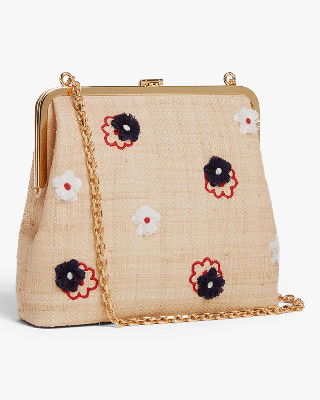 Mark Cross Susanna Raffia & Leather Frame Pouch Bag 2
