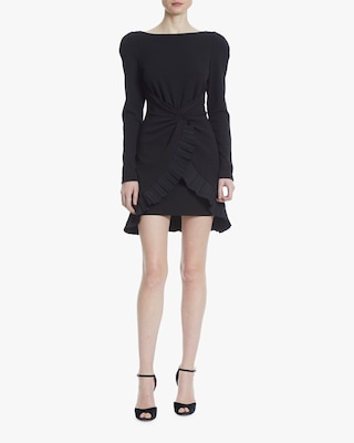 One33 Social Front-Knot Pleated Cocktail Dress 1